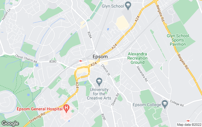 Map for Thomas & May, Epsom