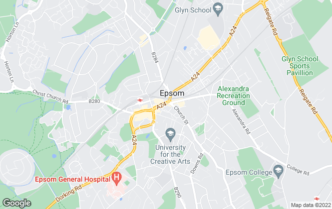 Map for Gascoigne-Pees , Epsom
