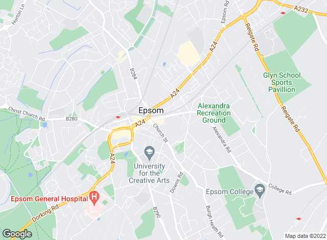 Map for Direct Residential , Epsom & Ashtead