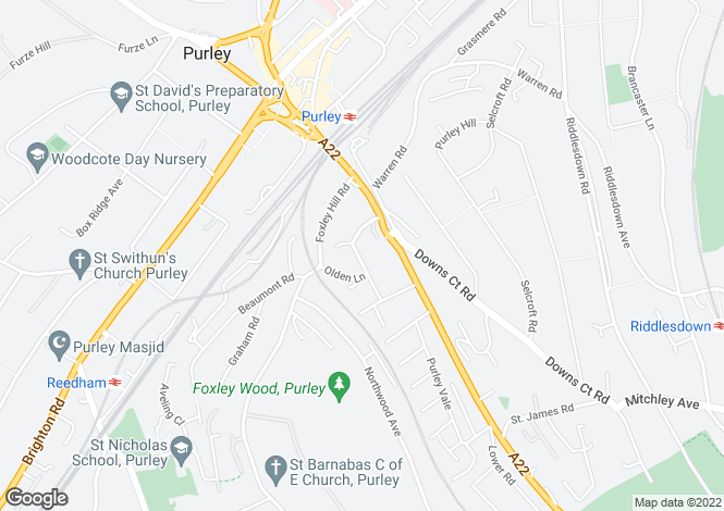 Map for Purley