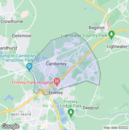 Map of property in Camberley