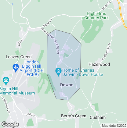 Map of property in Downe