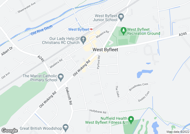 Map for ROSEMOUNT PARADE, WEST BYFLEET, SURREY