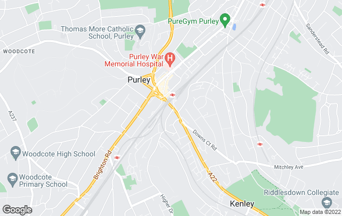 Map for Mark Youll Estate Agents, Purley