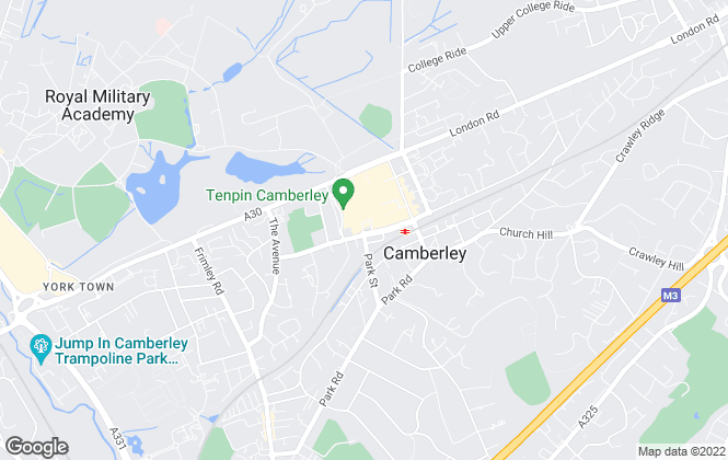 Map for Vickery , Camberley