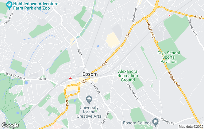 Map for Financial Recoveries Ltd, Epsom