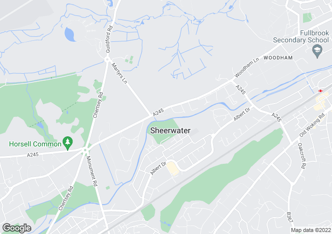 Map for Warnborough House, Woodham Gate,  GU21 5AY