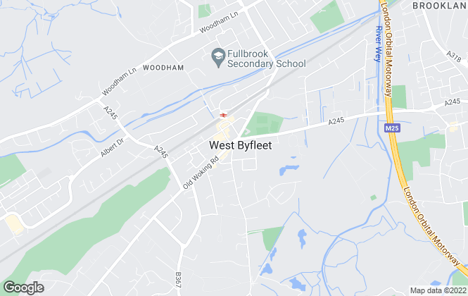 Map for Pilgrims Property Services, West Byfleet