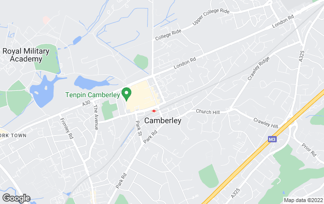 Map for Belvoir, Camberley Lettings
