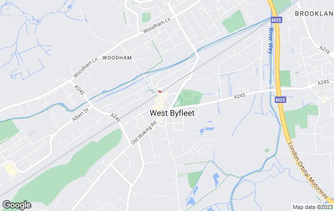 Map for Curchods Estate Agents, West Byfleet