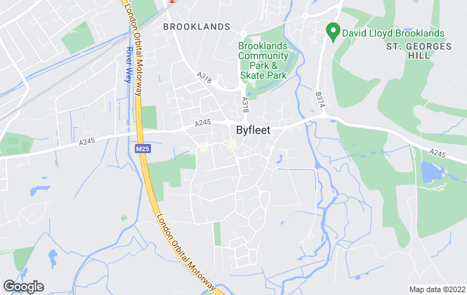 Map for Richmonds , Byfleet