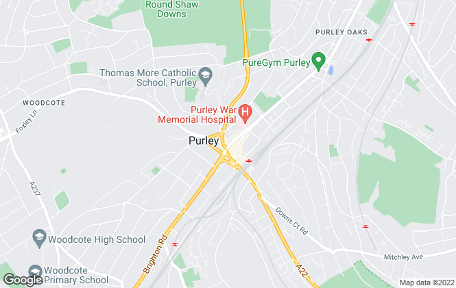 Map for Streets Ahead, Purley