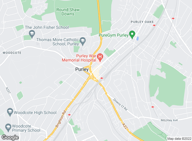 Map for Mann Countrywide, Purley