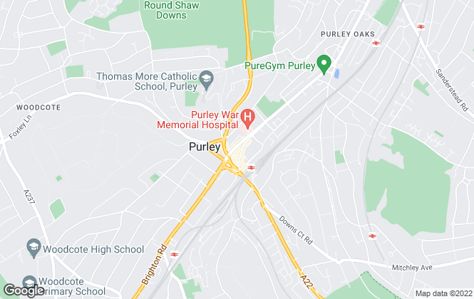 Map for Cubitt & West, Purley