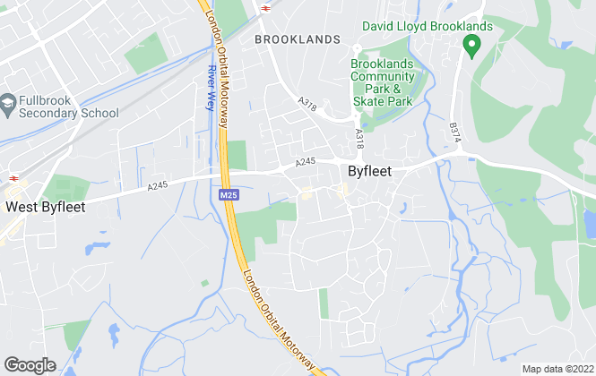 Map for Green and Parry, Byfleet
