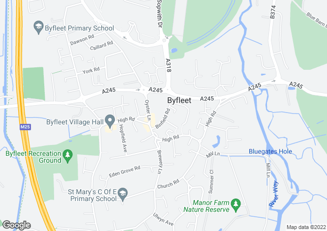 Map for Binfield Road,