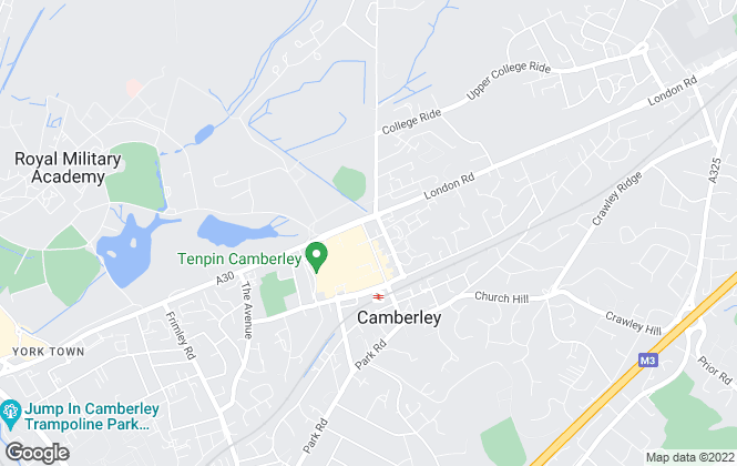 Map for Martin & Co, Camberley - Lettings & Sales