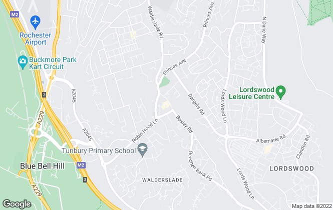Map for Greyfox Estate Agents, Walderslade