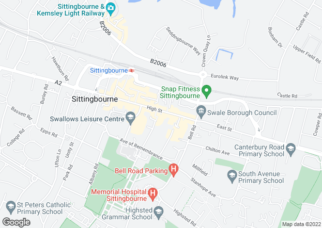Map for High Street, Sittingbourne