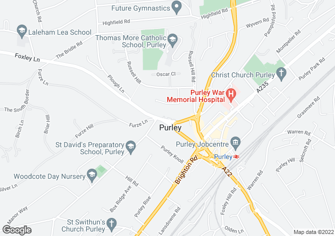Map for Reynard Court, Foxley Lane, Purley, CR8 3EN