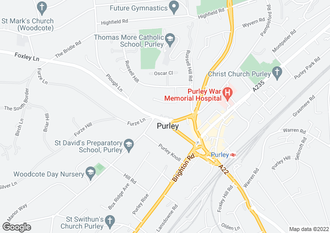 Map for 10 Foxley Lane, Purley, CR8