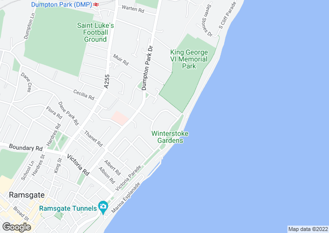 Map for Ramsgate, Kent