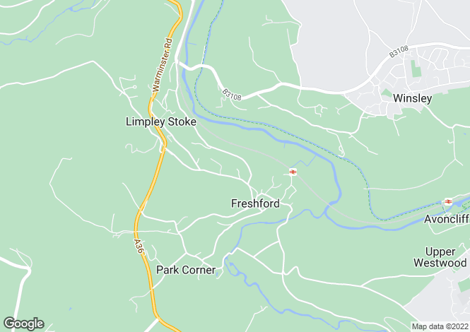 Map for The Grange, Church Lane, Freshford
