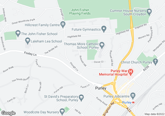 Map for Russell Hill,