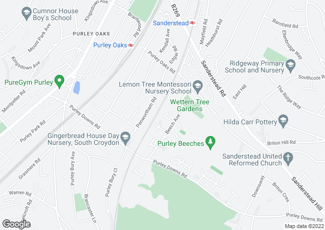 Map for Chaseley Drive,  Sanderstead