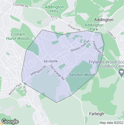 Map of property in Selsdon