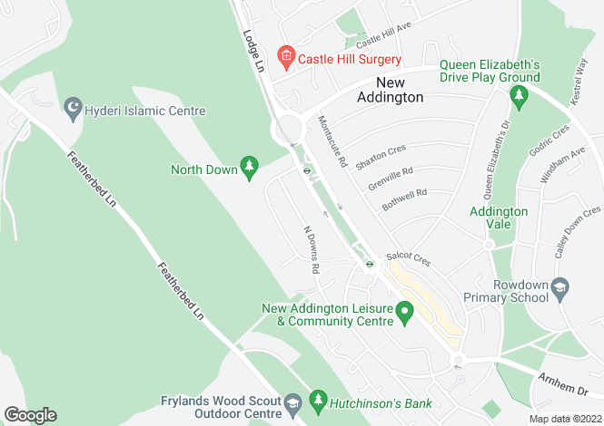 Map for New Addington, Surrey