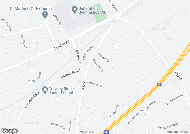 Map for Portsmouth Road, Camberley, Surrey