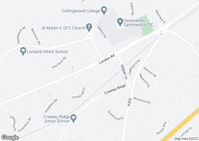 Map for London Road, Camberley, GU15