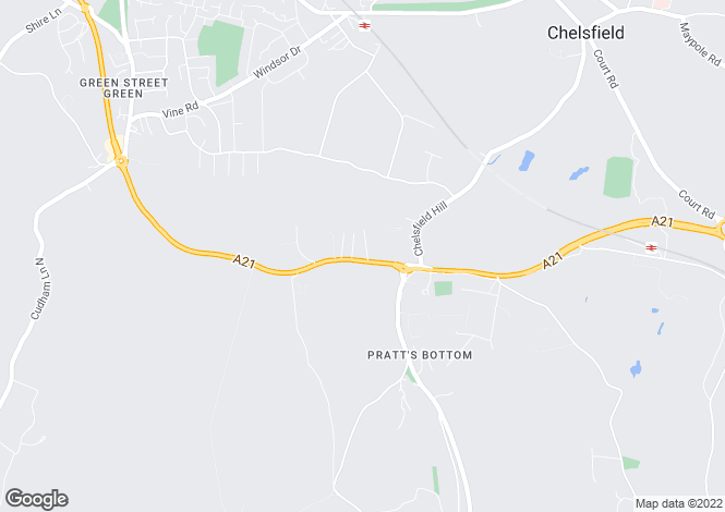 Map for Sevenoaks Road, Pratts Bottom, Kent, BR6 7SE