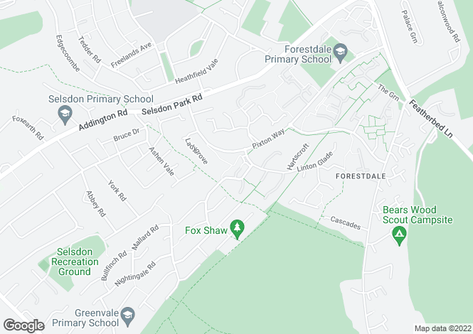 Map for Linton Glade, Forestdale, Croydon