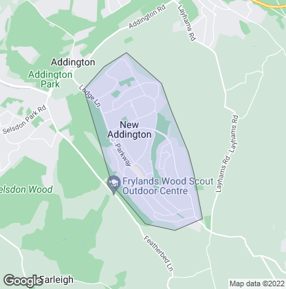Map of property in New Addington