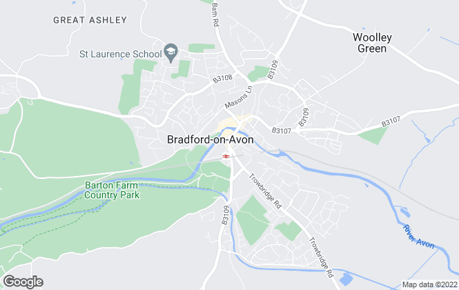 Map for Geoffrey M Saxty, Bradford-on-Avon