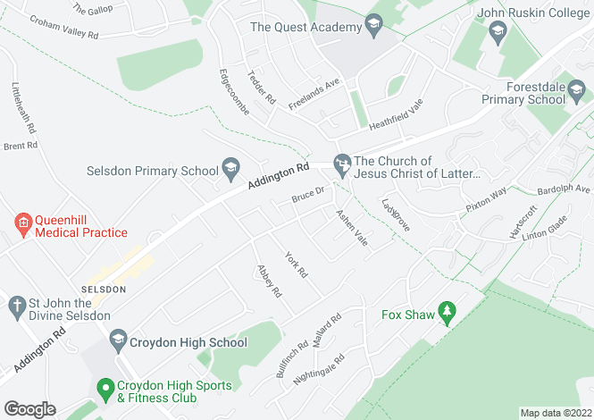 Map for Sundale Avenue, Selsdon, Croydon,