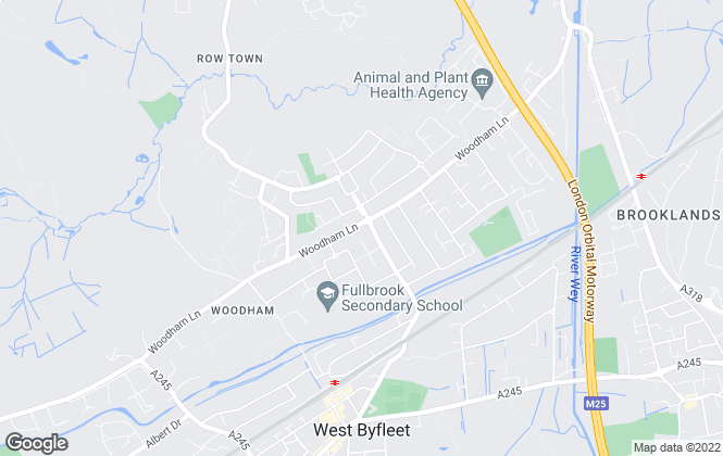 Map for Brookwood Lettings, Addlestone