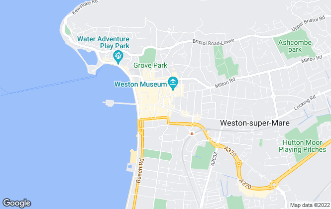 Map for West Coast Properties, Weston Super Mare