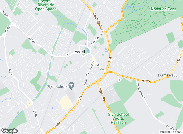 Map for Gascoigne-Pees, Ewell