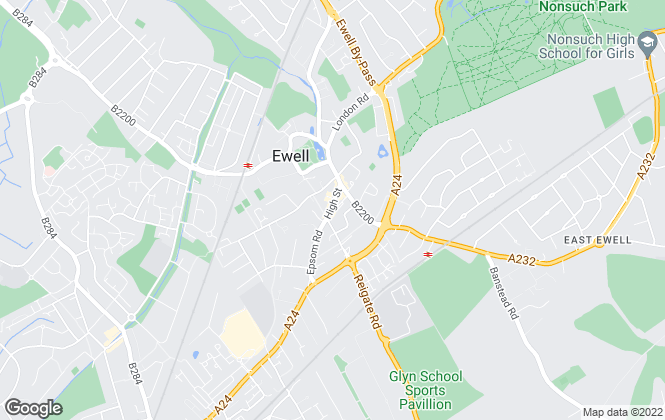 Map for 247 Property Agent, Ewell