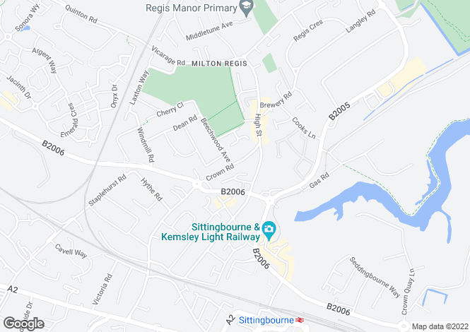 Map for Crown Road, Sittingbourne, Kent ME10