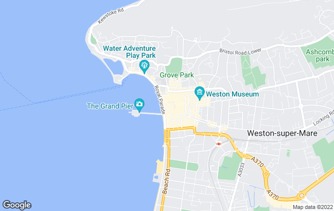 Map for TR Lettings, Weston Super Mare