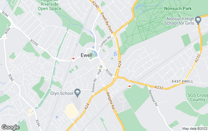 Map for Wildheart Residential Management Limited, Epsom