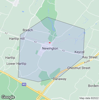 Map of property in Newington