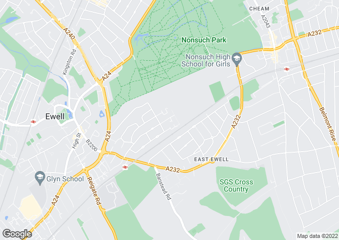 Map for East Ewell