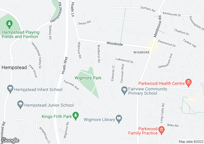 Map for Bredhurst Road, Wigmore, Gillingham ME8