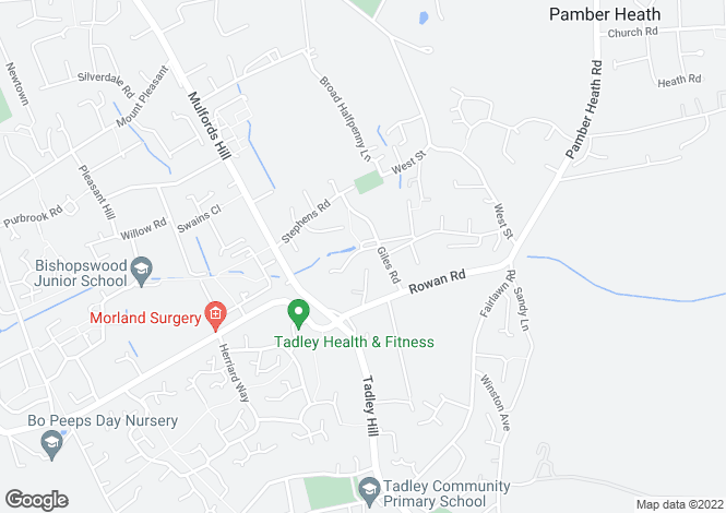 Map for Tadley