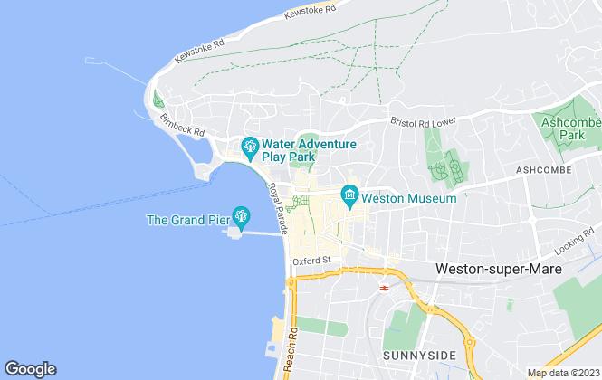 Map for Belvoir, Weston-super-Mare
